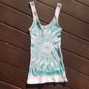 ☀️EUC Free People Patterned Tank Top Size Small